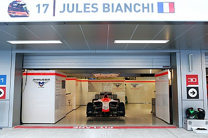 Marussia withdraws Bianchi's car in Russia