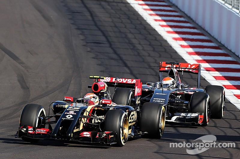 Grosjean led home Maldonado in the first Russian GP at the impressive Sochi Autodrom