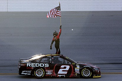 Keselowski escapes elimination with victory at Talladega