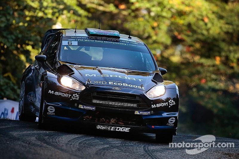 M-Sport World Rally Team's Mikko Hirvonen in the hunt