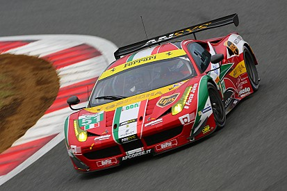 "The AF Corse Ferrari 458's Italia defend the leadership in the ""Shanghai 6 Hours"""