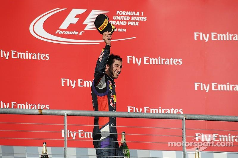 Podium for Ricciardo in USA