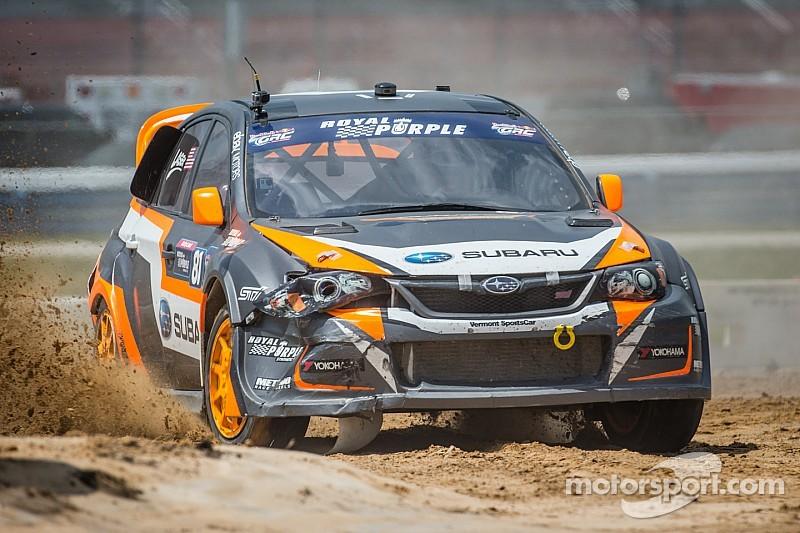 Subaru driver Bucky Lasek earns podium finish at Las Vegas Global Rallycross season finale