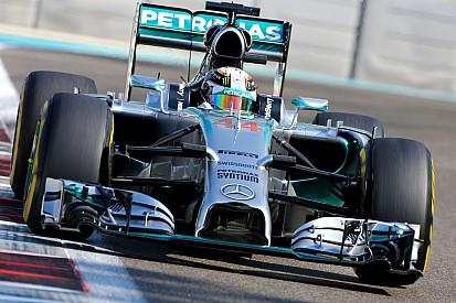 Hamilton quickest in Abu Dhabi as title showdown begins