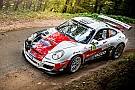 Romain Dumas at the Monte-Carlo Rally  with his Porsche
