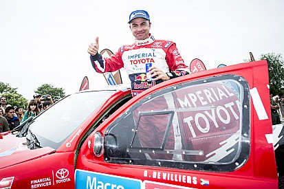Toyota's De Villiers, Ten Brinke and Lavieille finish second, sixth and seventh overall in Dakar