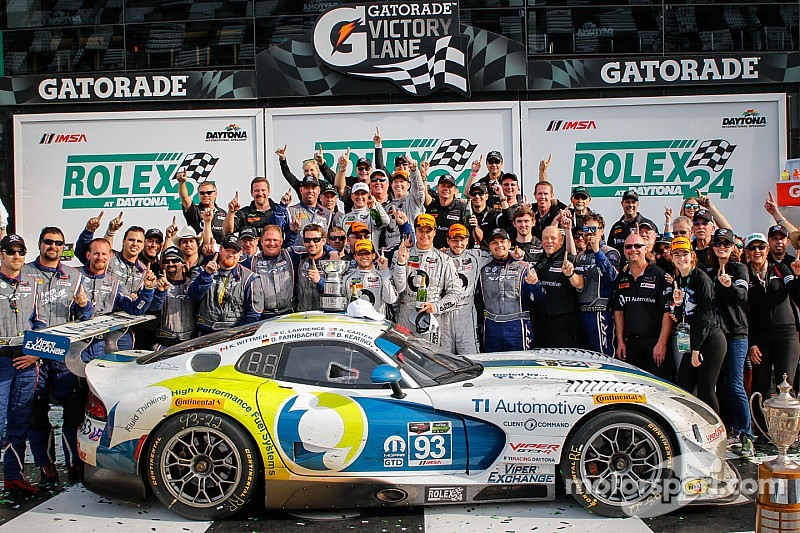 Rolex 24: Riley's Viper squad delighted with GTD class win