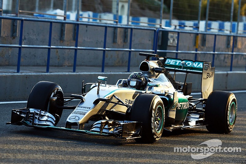 Mercedes gets back to work with the new F1 W06 Hybrid Silver Arrow