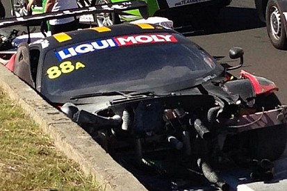 Violent accident during Bathurst 12 Hour practice takes out defending race winners