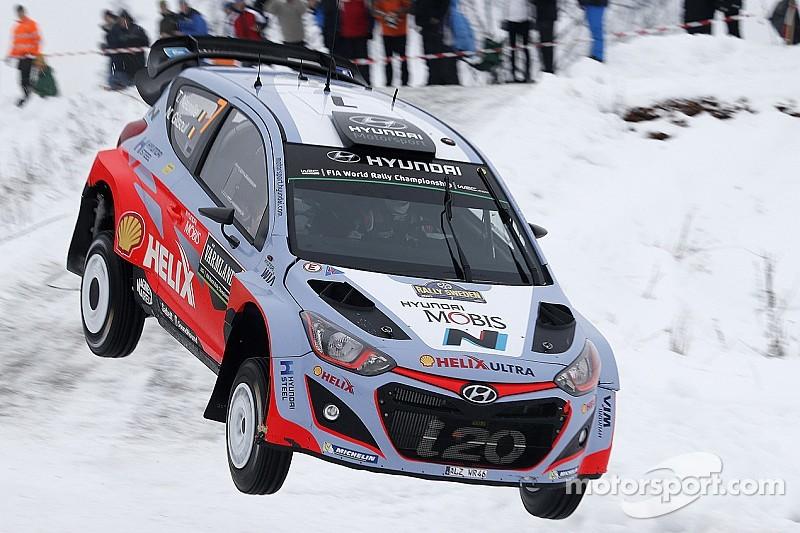 Strong start for the Hyundai Motorsport trio in Rally Sweden's winter wonderland