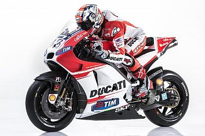 New Desmosedici GP15 presented today at Ducati Auditorium in Bologna
