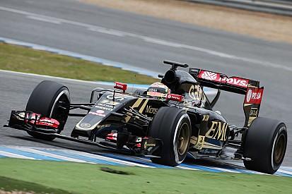 El Lotus E23 entró a por primera vez en Jerez