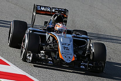 Sahara Force India achieve a solid first day with the VJM08 at Barcelona