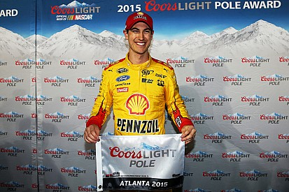 Joey Logano earns first career pole at Atlanta