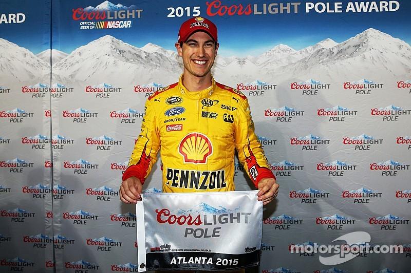 Joey Logano earns first career pole at Atlanta