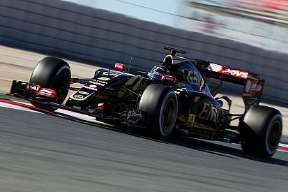 Lotus' Grosjean completes his final day of pre-season testing at Barcelona
