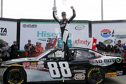 Harvick fends off Logano to win XFINITY race at Atlanta