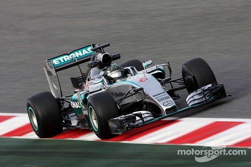 Rosberg wraps up winter testing with a marathon run at the Circuit de Barcelona-Catalunya