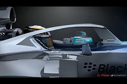 В Mercedes предложили систему безопасности головы пилота