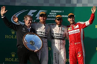 Hamilton leads dominant Mercedes 1-2
