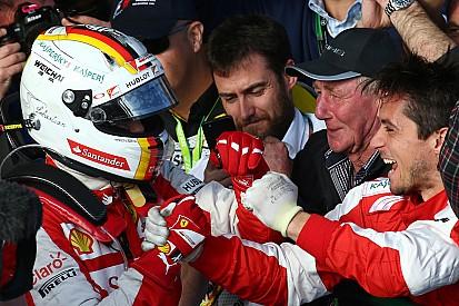 Ferrari encantado con el podio