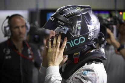 Für Tausendstel: Rosberg wechselte Helm von Gelb auf Schwarz