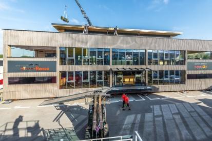 """Neue Energy-Station: Red Bull und Toro Rosso bekommen ein """"Holzhaus"""""""