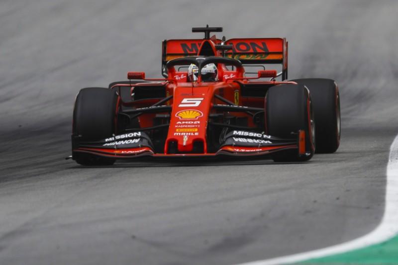 Ferrari chancenlos: Vettel schwimmen im dritten Sektor die Felle davon