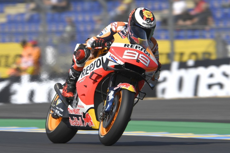 Jorge Lorenzo mit Standard-Sitz von Honda am Freitag schneller