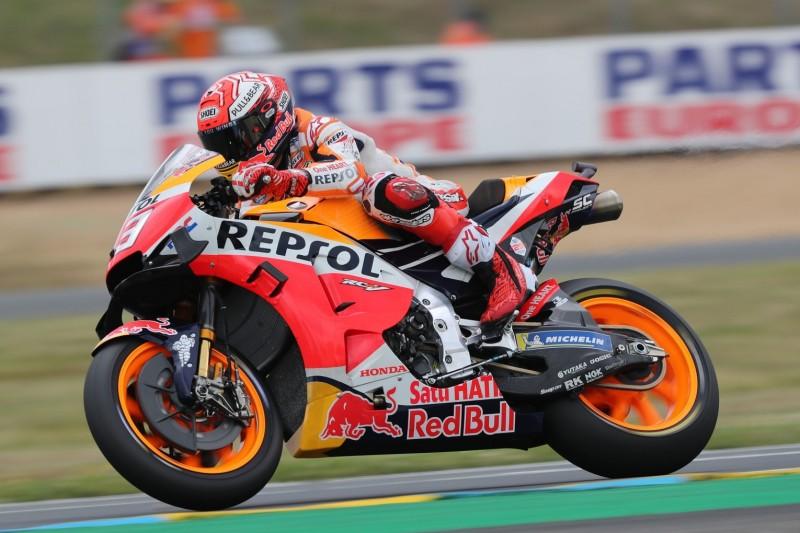 MotoGP-Qualifying Le Mans: Marquez trotz Sturz auf Pole, Rossi in Reihe zwei