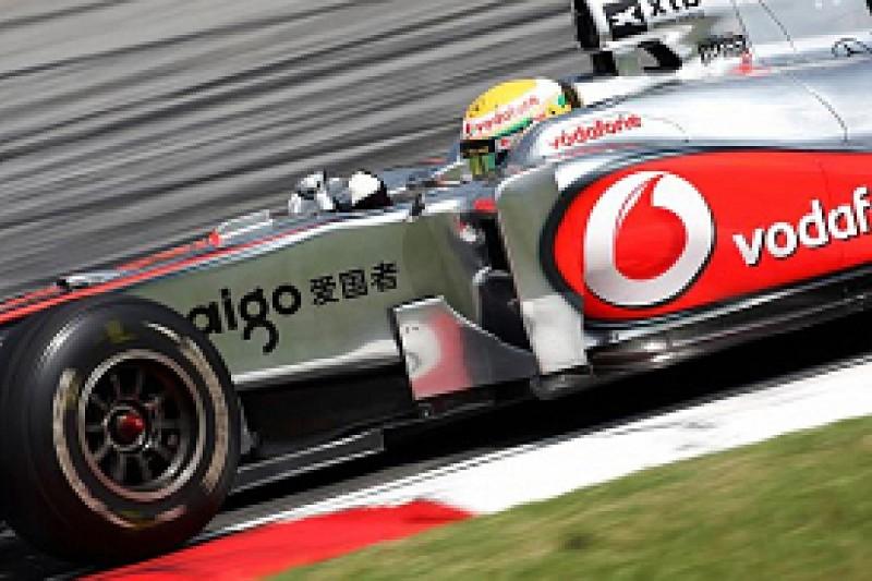 Hamilton fastest again in second practice