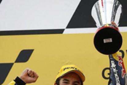 125cc: Marquez wins despite crashing
