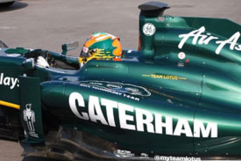 Team Lotus adds Caterham branding from the British Grand Prix