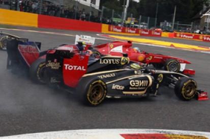 Jaime Alguersuari blames Bruno Senna for first corner Belgian GP incident