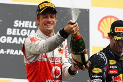 Jenson Button reckons he could have won at Spa but for first corner damage