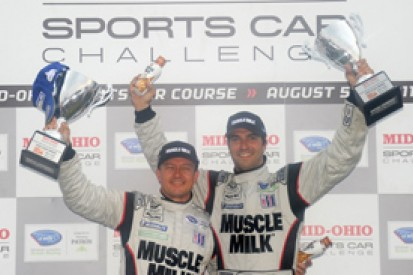 Lucas Luhr and Klaus Graf take victory as rain plays havoc at Mid-Ohio