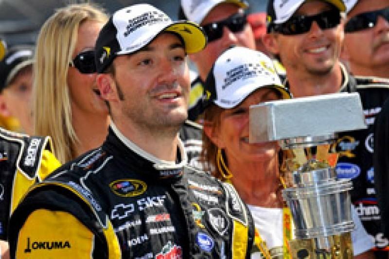 Paul Menard hopeful of NASCAR Sprint Cup Chase spot after Brickyard win