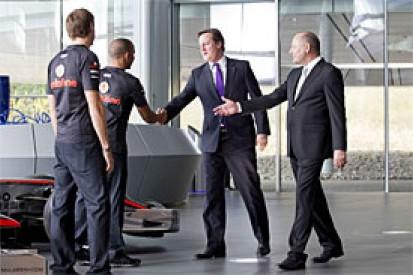 UK Prime Minister David Cameron visits McLaren opening