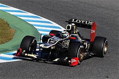 Kimi Raikkonen goes quickest for Lotus in first F1 test of 2012