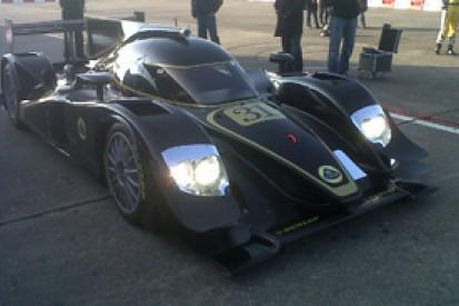 Lola shakes down new Lotus-branded LMP2 car