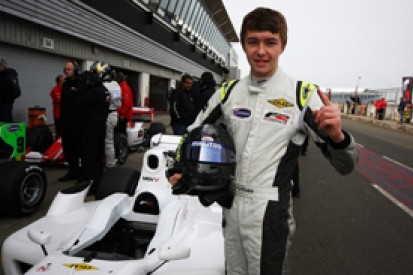 Teenager Matheo Tuscher takes pole position for opening Formula 2 round at Silverstone
