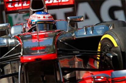 Jenson Button goes fastest in rain-hit second practice for the Monaco Grand Prix