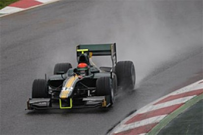 Alexander Rossi tops GP2 test at wet Barcelona