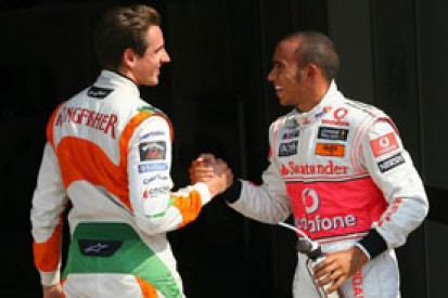 Lewis Hamilton says he prayed for Adrian Sutil's F1 return