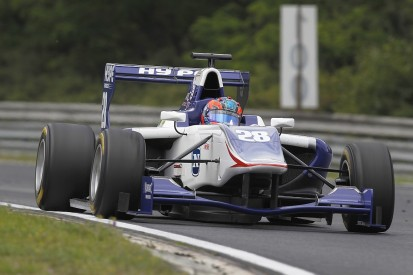 Kevin Korjus fastest on first day of GP3 testing at the Hungaroring