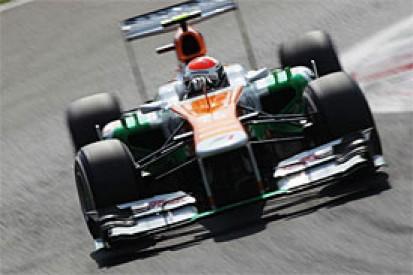 Italian GP: Adrian Sutil penalised for blocking Lewis Hamilton