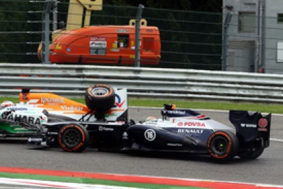 Belgian GP: Maldonado blames Sutil for di Resta collision