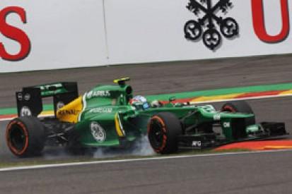 Belgian GP: Giedo van der Garde nearly abandoned slick Q1 run