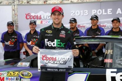 Bristol NASCAR: Denny Hamlin secures pole