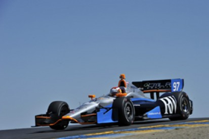 Sonoma IndyCar: ALMS star Lucas Luhr not worried by slow practice pace